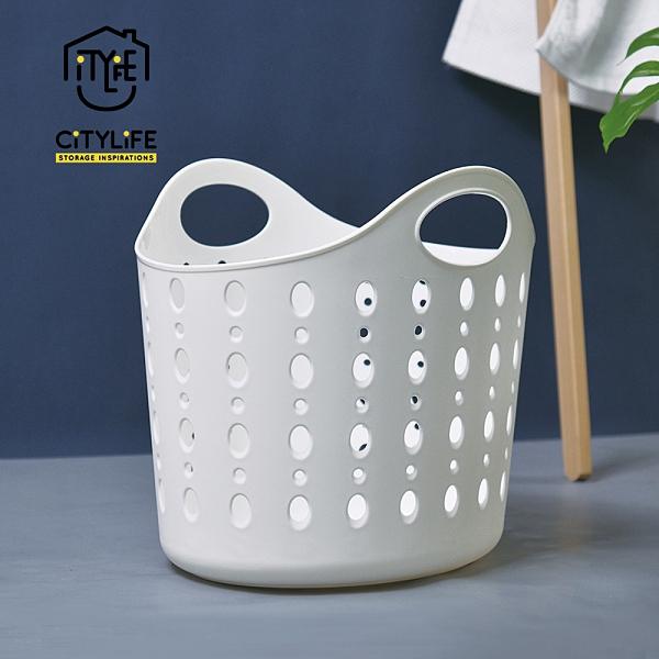 【新加坡CITYLIFE】奈米抗菌PP手提式洗衣籃-22.4L (抑菌 防潮 防霉 防黴 通風 衣物)
