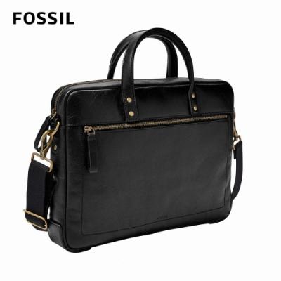 FOSSIL Haskell 真皮公事包-黑色 MBG9377001