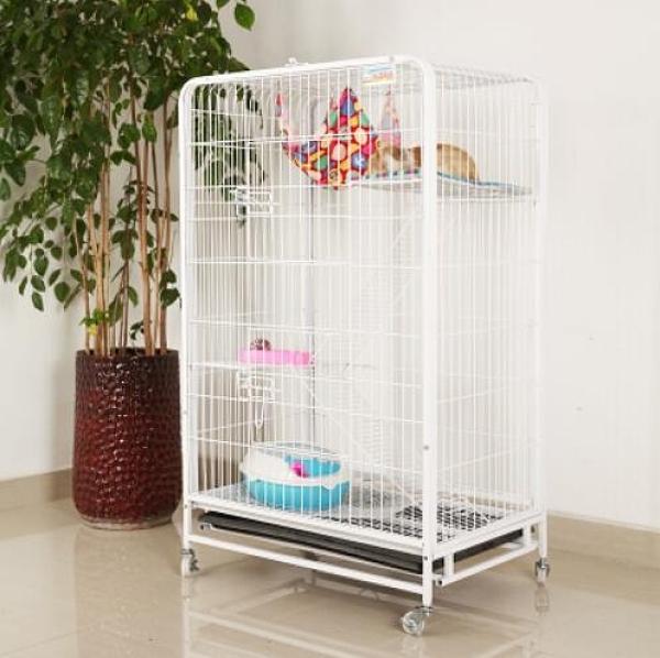 貓別墅貓籠子 三層雙層大號寵物籠 摺疊繁殖貓咪籠送貓爬架兔籠子【快速】