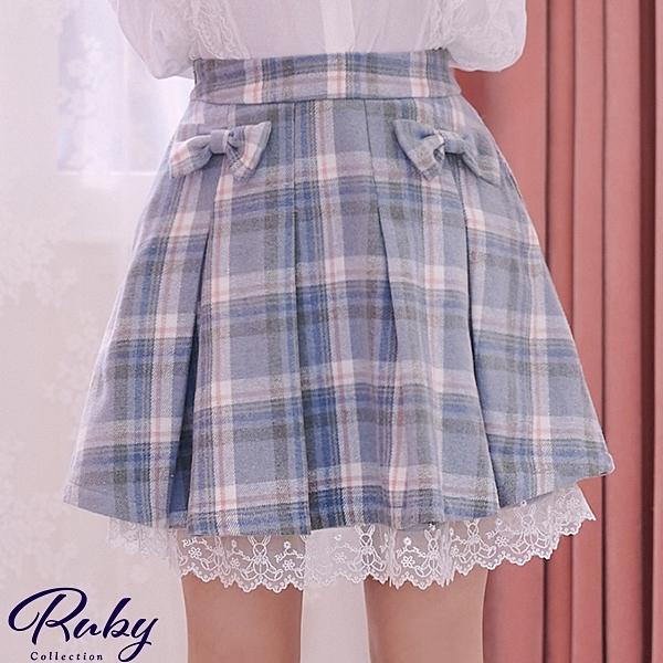 裙子 Ruby x AKB48TeamTP設計•蝴蝶結毛呢短裙-Ruby s 露比午茶