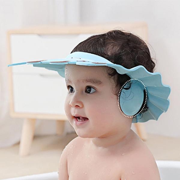洗頭套 浴帽 頭罩 洗澡帽 可調節 兒童浴帽 嬰兒洗頭 可調節護耳洗頭套【L149】慢思行