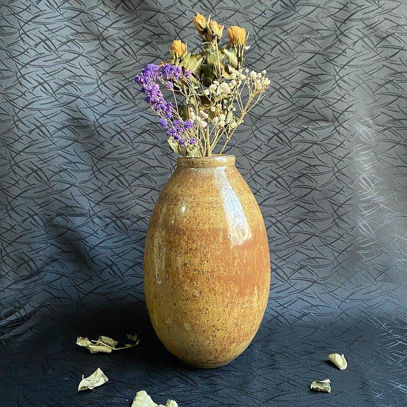 釉名x沙漠幻景x 18cm手工陶瓷花瓶 花器