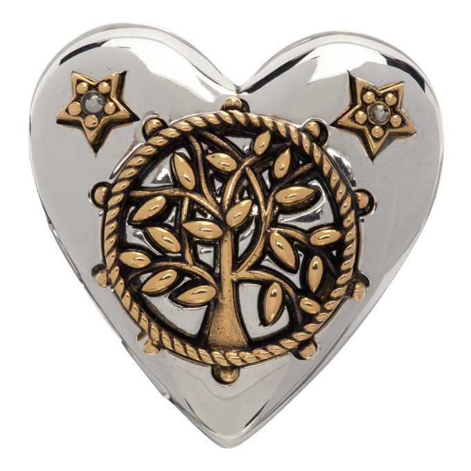 Alexander McQueen 银色 Heart Locket 戒指