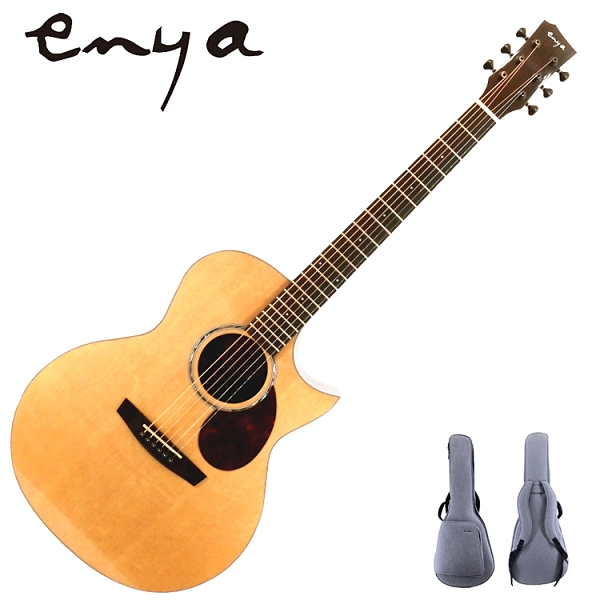 ENYA嚴選EM-Q1特級雲杉單板旅行吉他-36吋AJ筒/印度玫瑰木側板/附贈千元好禮