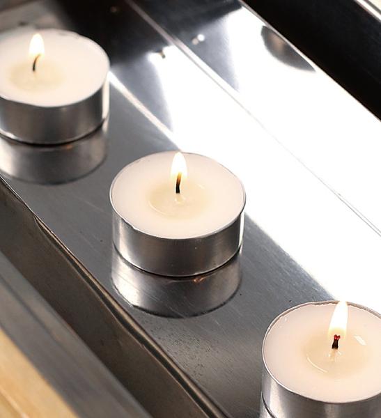 無香精茶燭50入/鋁殼蠟燭/無煙環保/加熱溫茶/節慶佈置/CD7268