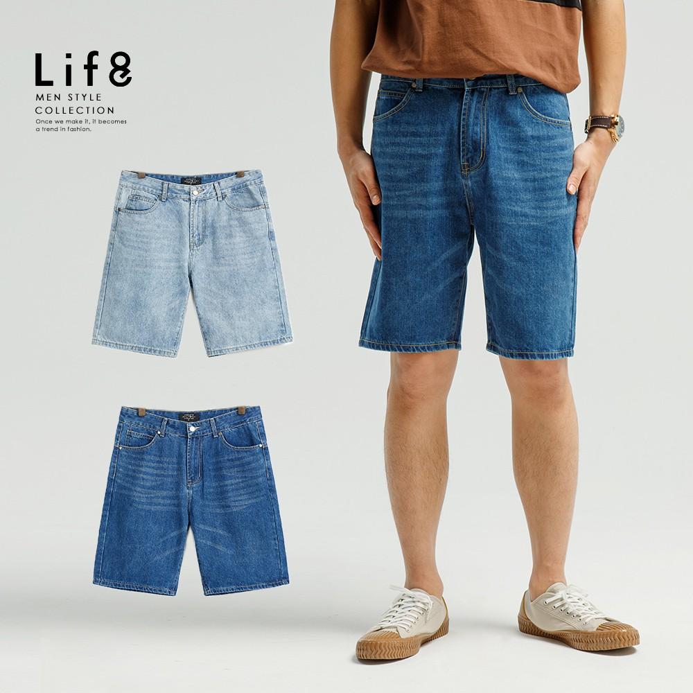 Life8-Casual 水洗純棉後雙袋設計牛仔短褲-02556 廠商直送 現貨