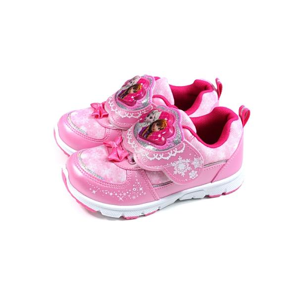 冰雪奇緣 Elsa Anna 休閒運動鞋 電燈鞋 魔鬼氈 粉紅色 中童 童鞋 FOKX94453 no869