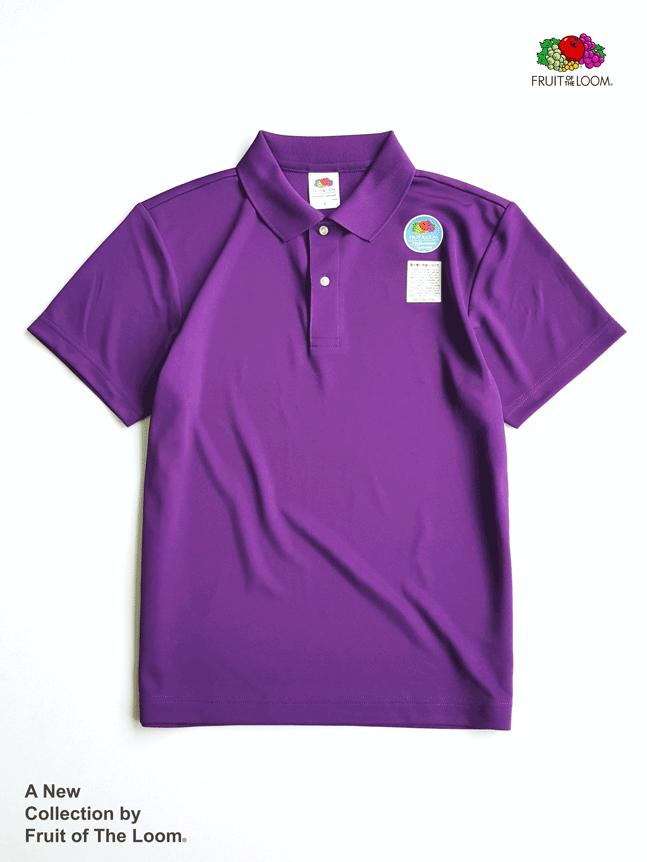 FRUIT OF THE LOOM 水果牌 - DYP9000 吸濕排汗 4.1OZ 短袖 POLO衫 (PL紫色)