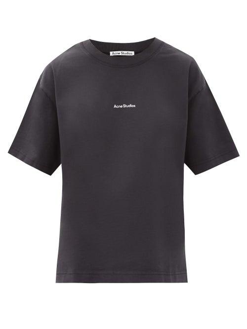 Acne Studios - Edie Stamp Logo-print Cotton-jersey T-shirt - Womens - Black
