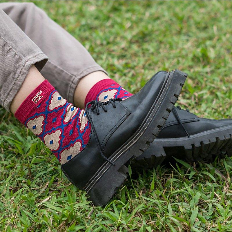 | 台灣文化 | 印花襪 - 海棠小姐