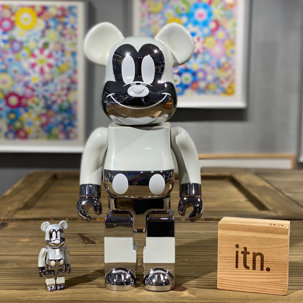 BE@RBRICK fragment MICKEY MOUSE 閃電 米奇  400% + 100%