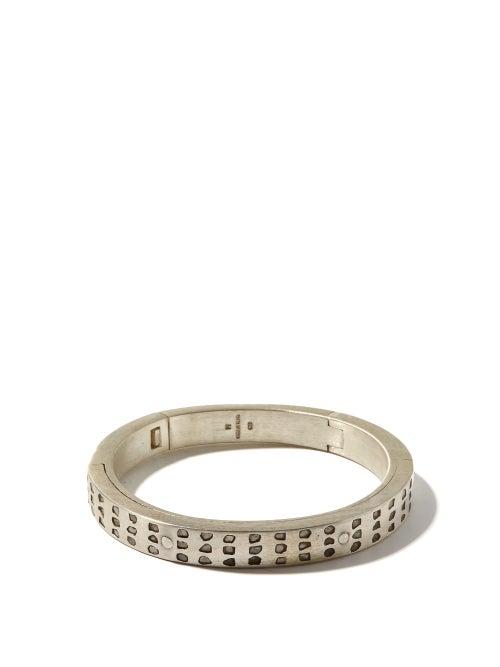 Parts Of Four - Sistema Raw-diamond & Sterling-silver Bracelet - Mens - Silver