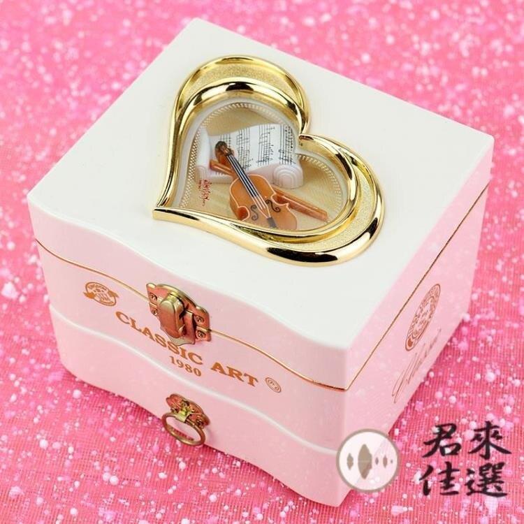 夯貨折扣-音樂盒八音盒旋轉跳舞芭蕾舞生日禮物玩具