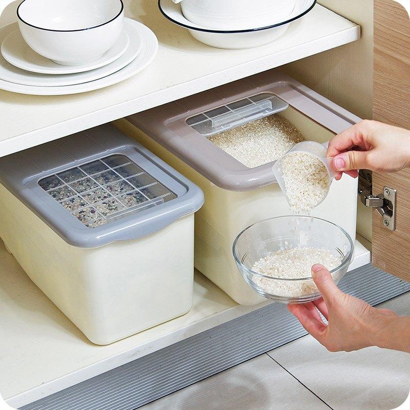 米桶 廚房密封米桶20斤裝面粉收納箱大米箱家用10斤儲存罐防潮防蟲米缸[優品生活館]