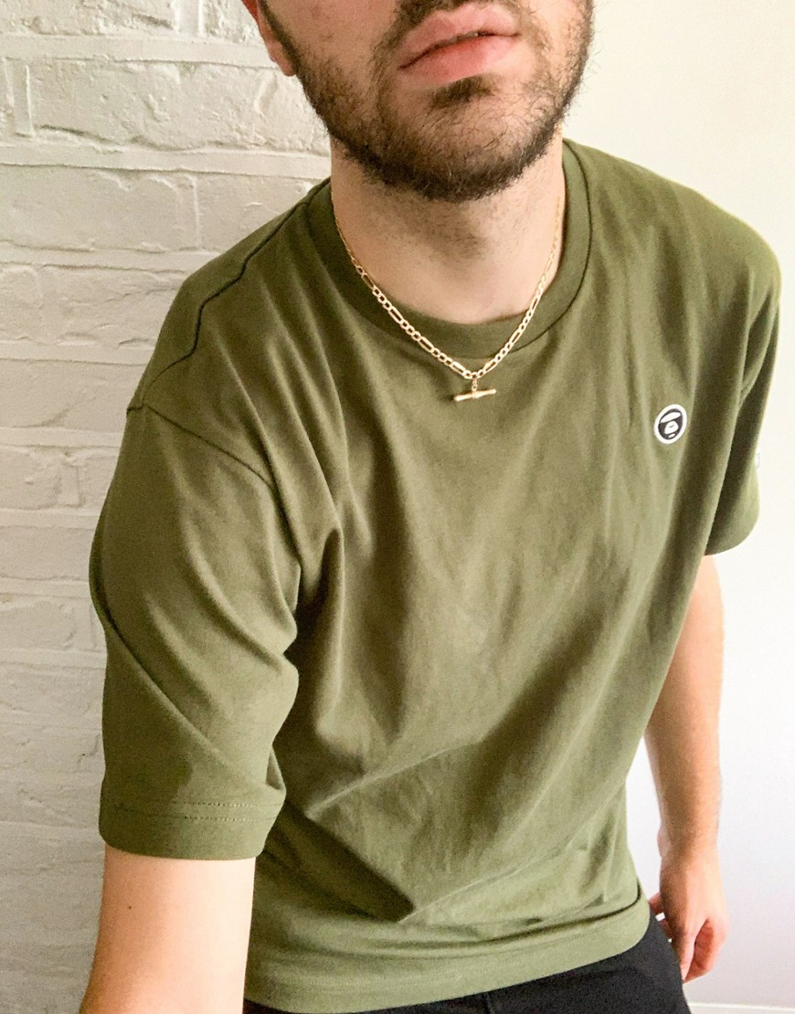 AAPE By A Bathing Ape One Point t-shirt in khaki-Green