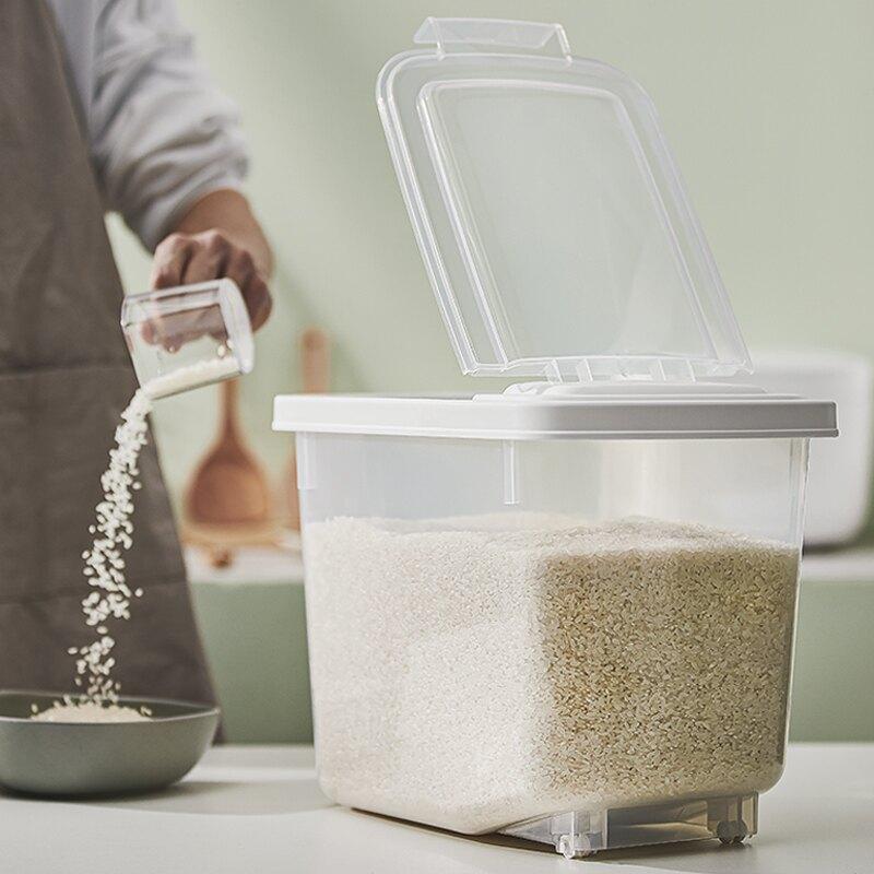 米桶 裝米桶米缸家用防蟲防潮密封面粉儲存罐盒箱大米10斤20斤裝[優品生活館]