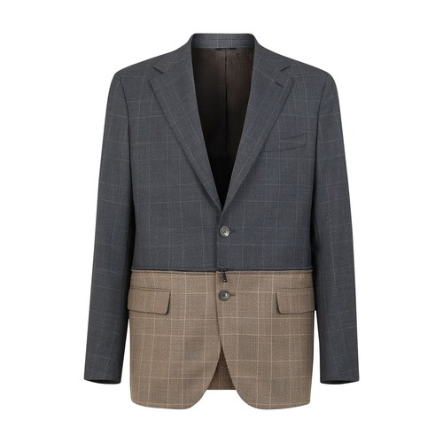 Multicolour Prince of Wales check blazer
