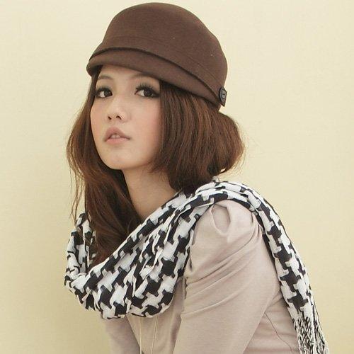 I-shi 日系千鳥格厚款長圍巾(黑白)