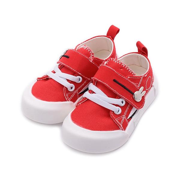 MIFFY 米飛兔 休閒布鞋 紅 200804 中小童鞋
