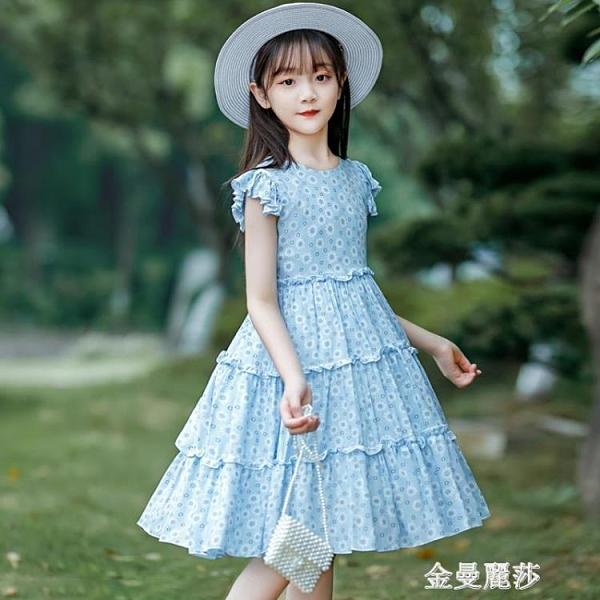 女童洋裝夏裝新款女孩大童公主裙純棉薄款裙子夏款洋氣 極簡雜貨