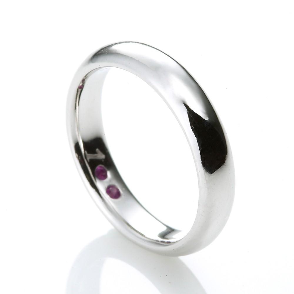 Dolly 求婚戒 0.07克拉 14K金紅寶戒指