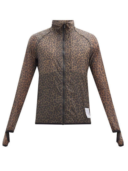 Satisfy - Trail Running Leopard-print Ripstop Jacket - Mens - Brown