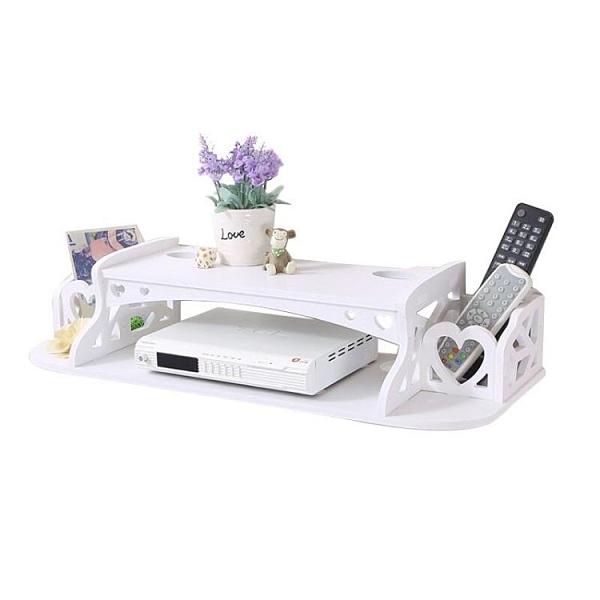 無線路由器箱收納盒壁掛WiFi置物架理線免打孔遮擋機頂盒架