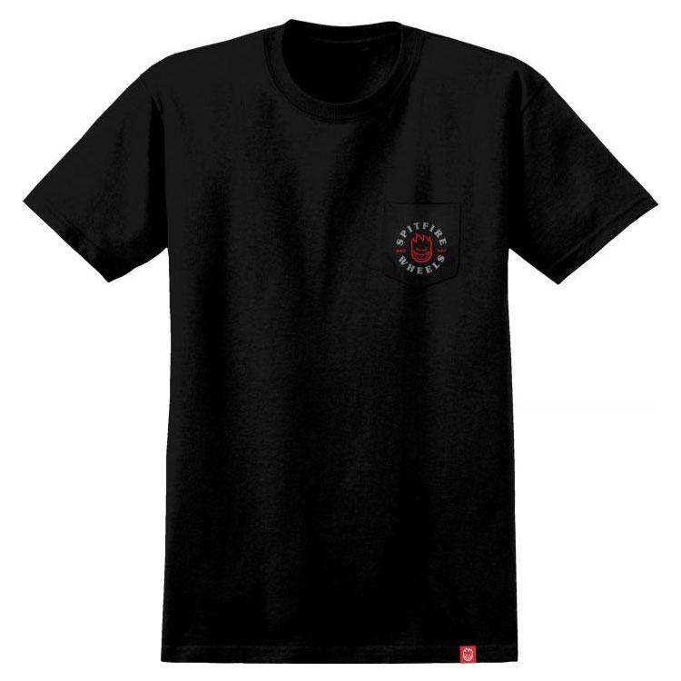 SPITFIRE - 51010482P-BLK Bighead Classic TEE 口袋 短T (黑色)