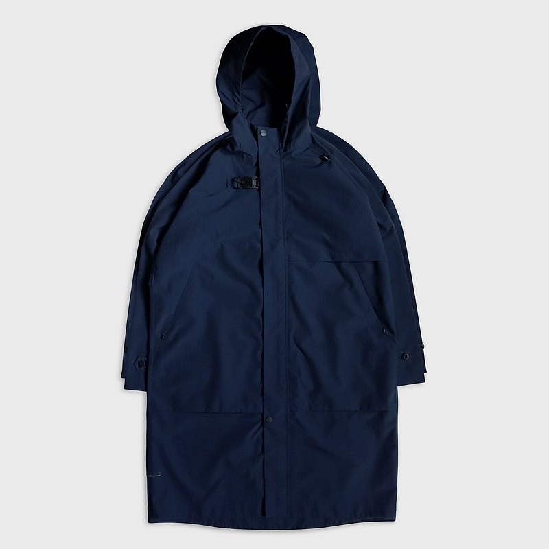 DYCTEAM - Symbiosis - Buckle long coat (navy)