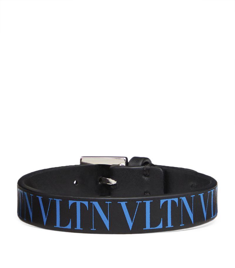 Valentino Leather Vltn Bracelet
