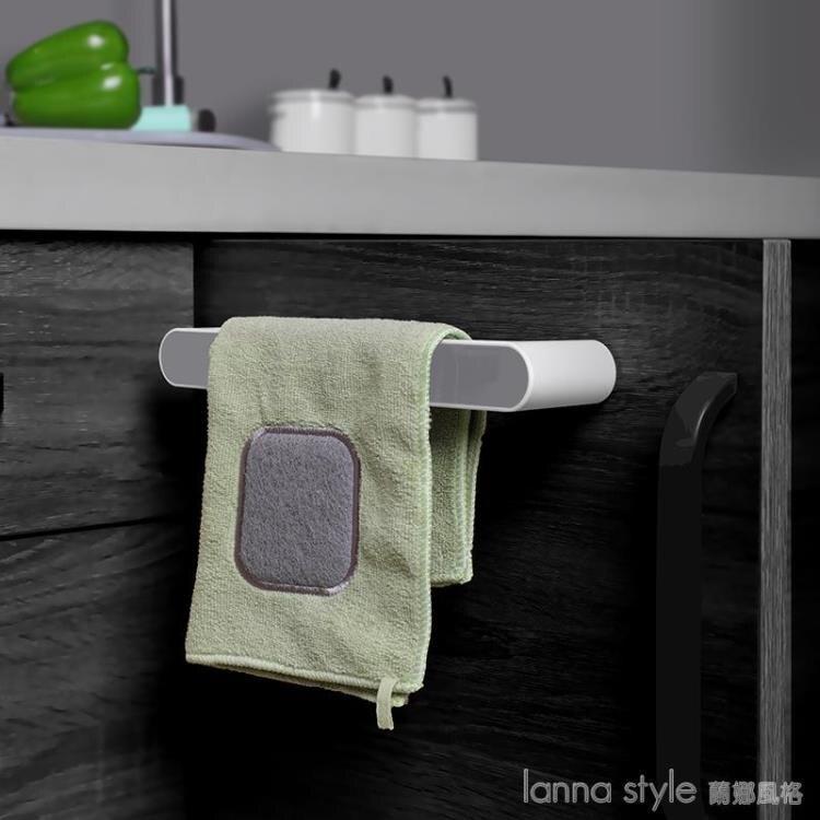 毛巾架免打孔衛生間浴室吸盤掛架浴巾架子北歐簡約創意單桿置物桿