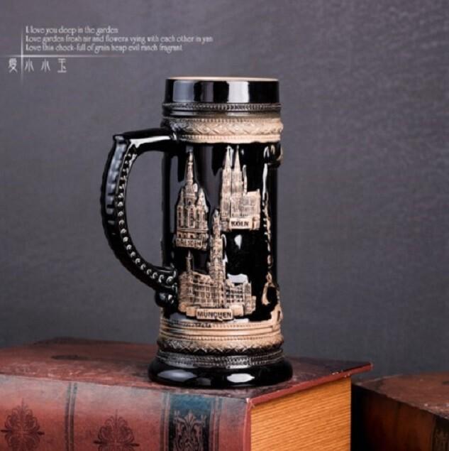 陶瓷酒杯浮雕杯馬克杯