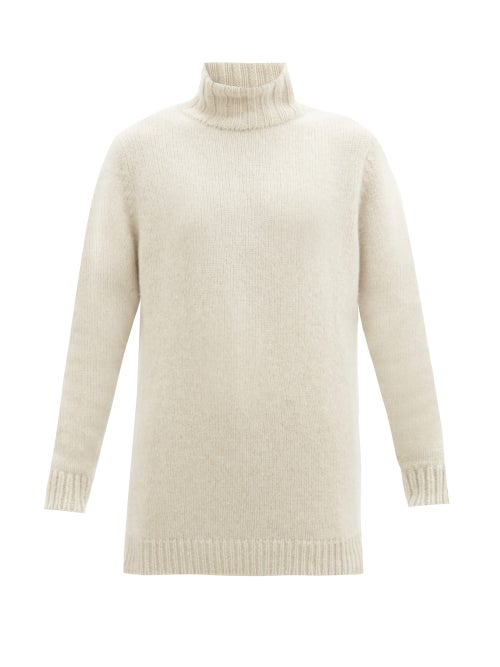 The Elder Statesman - Roll-neck Cashmere Sweater - Womens - White