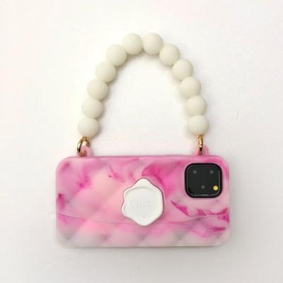 【Candies】雲彩珠鍊晚宴包(粉) - iPhone 11 Pro