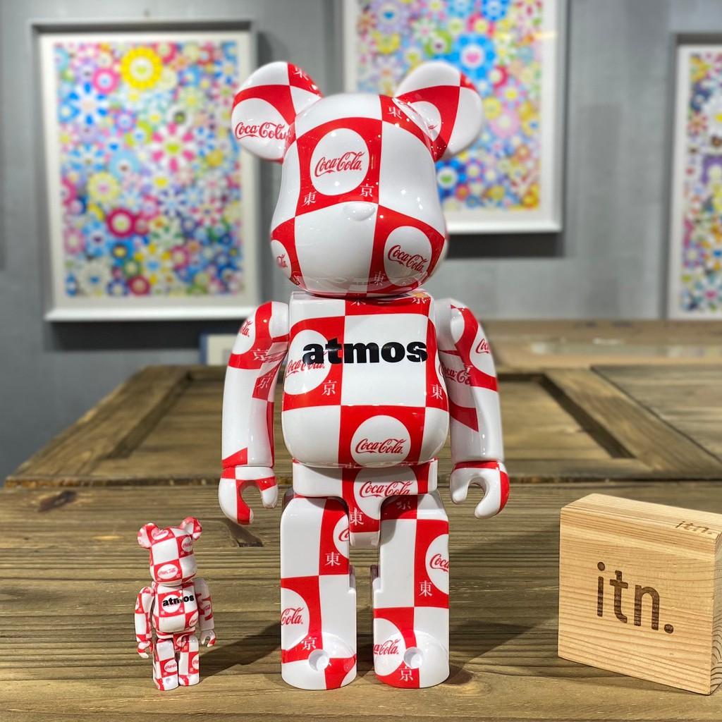 BE@RBRICK atmos Coca-Cola 東京 可口可樂 可樂  棋盤格 400% + 100%
