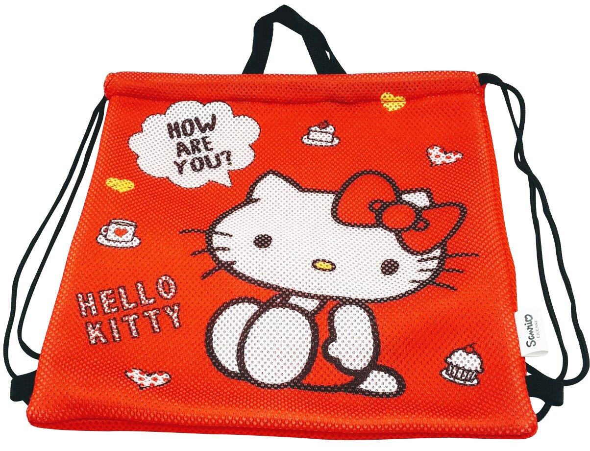 Hello Kitty三明治網束口背袋