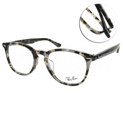 RAY BAN光學眼鏡 經典圓框款 /琥珀灰棕 #RB7159F 8066-52mm