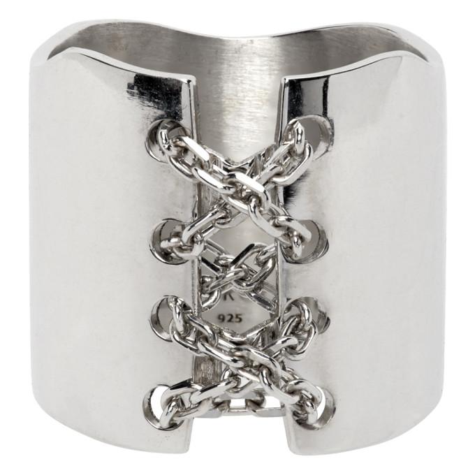 Alan Crocetti 银色 Corset 戒指