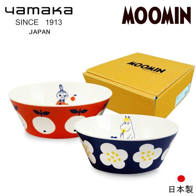 【日本山加yamaka】moomin嚕嚕米彩繪陶瓷碗禮盒2入組 (MM0324-79)