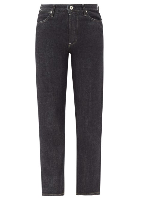 Jil Sander - High-rise Cropped Straight-leg Raw-denim Jeans - Womens - Denim