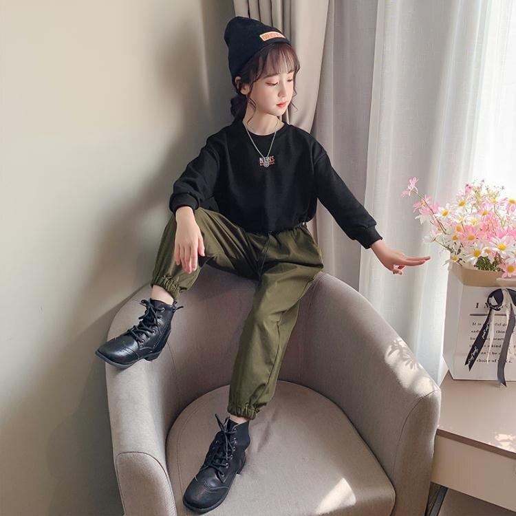 女童秋裝套裝2020新款洋氣中大童韓版潮春秋季運動網紅兒童工裝褲