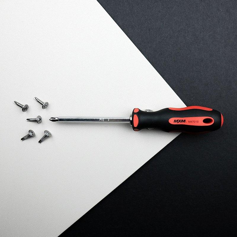 【MXM】替換型長款 頂級防滑雙頭螺絲起子 (4件組)