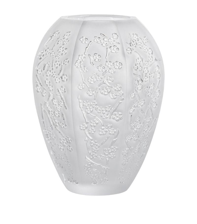 Lalique Medium Crystal Sakura Vase (14Cm)