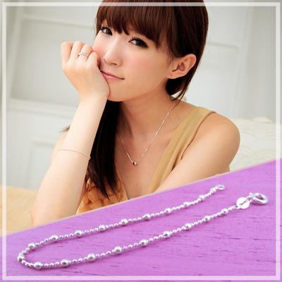 【維克維娜】夢幻世界。時尚大小圓珠設計 925純銀手鍊