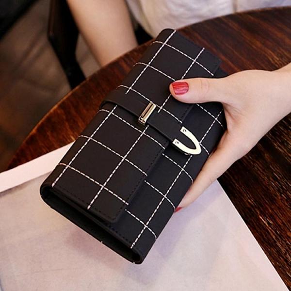手拿包 2020新款錢包女長款磨砂日韓大容量多功能三折女式錢夾皮夾手拿包 装饰界