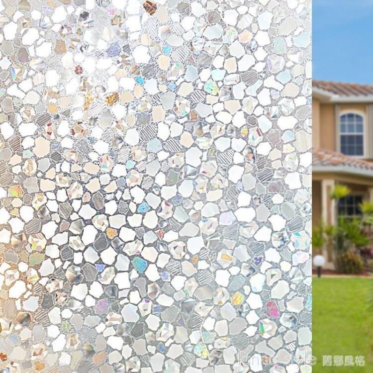 靜電3D無膠免膠窗戶窗花貼透光玻璃貼膜貼紙防曬隔熱家用移門廚房