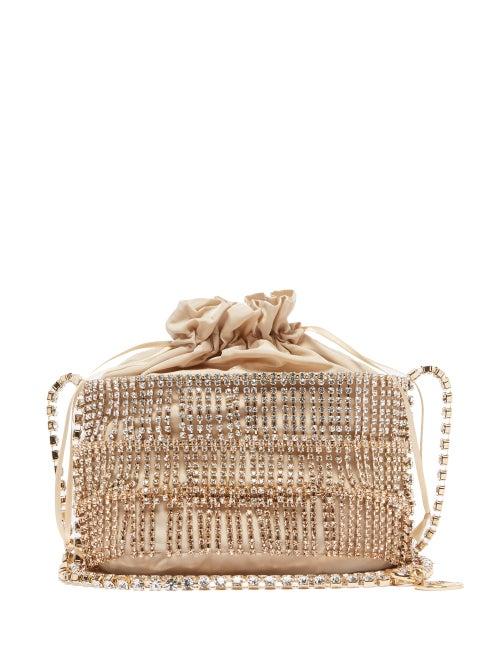 Rosantica - Ginger Crystal-embellished Cage Shoulder Bag - Womens - Gold