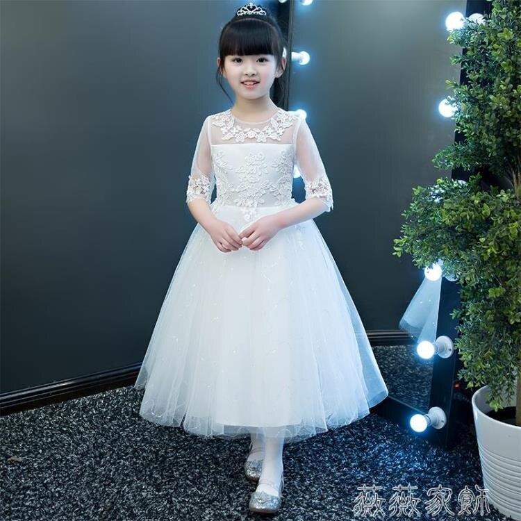 花童禮服 兒童高端禮服女童公主裙洋氣蓬蓬裙花童婚紗小主持人鋼琴演出服夏