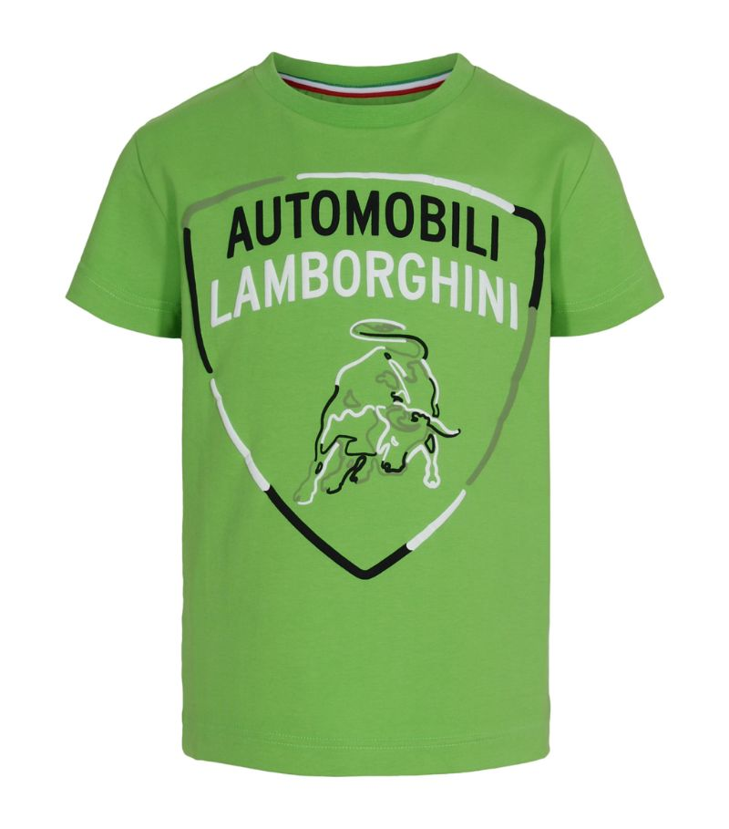 Automobili Lamborghini Kids Shield T-Shirt (4-14 Years)
