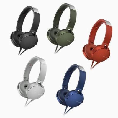 SONY重低音手機用可通話頭戴式耳麥MDR-XB550AP 送萬用收納袋